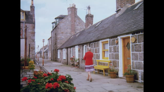 1981 village of footdee, in aberdeen, scotland - aberdeen scotland stock videos & royalty-free footage