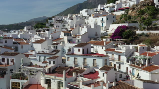 village of frigiliana / malaga, spain - spain stock videos & royalty-free footage