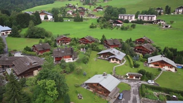 village of interlaken, switzerland - dorf stock-videos und b-roll-filmmaterial