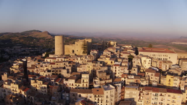 village of salemi in italy - sicily stock videos & royalty-free footage