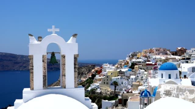 village oia on santorini island, greece - oia santorini stock videos & royalty-free footage