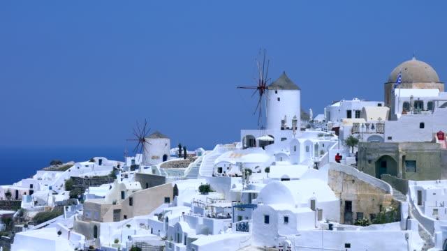 village oia on santorini island, greece - oia santorini stock videos & royalty-free footage