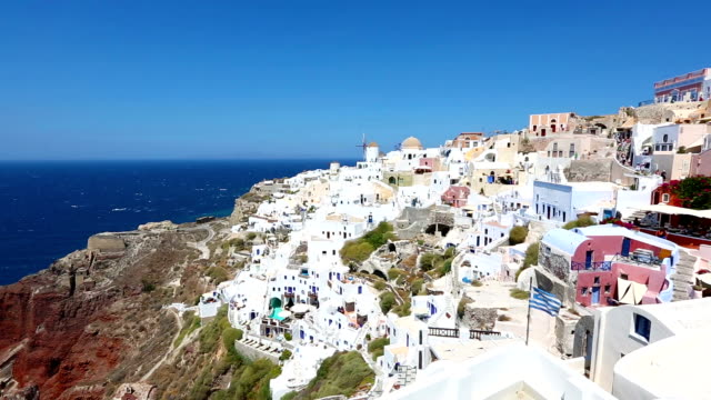 hd: village oia on santorini island, greece - oia santorini stock videos & royalty-free footage