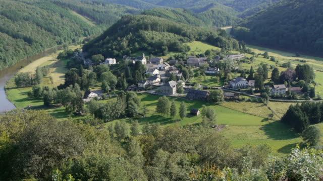 w/s village rochehaut, ardennes, belgium. - ベルギー点の映像素材/bロール