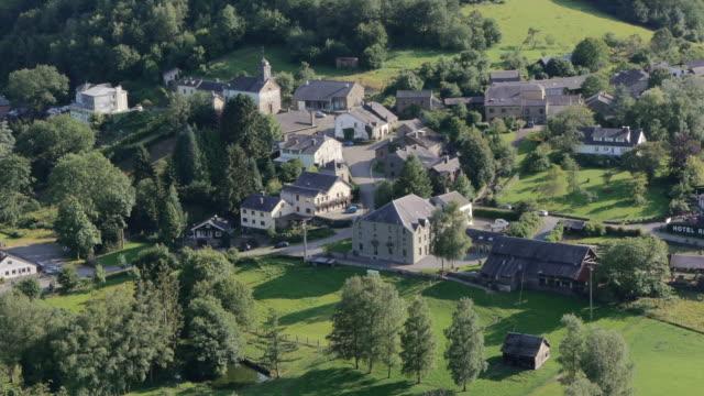 m/s village rochehaut, ardennes, belgium. - village stock videos & royalty-free footage