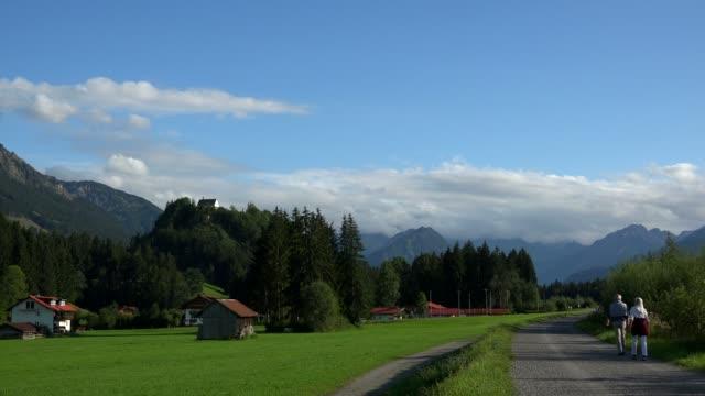Village Rubi and Rubihorn Mountain near Oberstdorf, Allg?u, Swabia, Bavaria, Germany