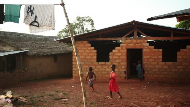 Village scene in Africa Soccer
