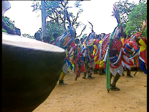 villagers perform a dance in one of india's tribal areas. - indigenous culture stock videos & royalty-free footage
