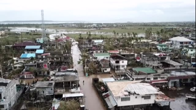 villages are submerged in muddy waters in central albay province in the philippines after deadly typhoon goni pounded the country - vortex stock videos & royalty-free footage