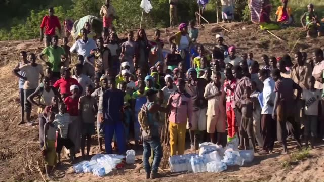 villages around the buzi river in mozambique have been cut off from aid since cyclone idai hit the coast more than a week ago - mozambique stock videos & royalty-free footage