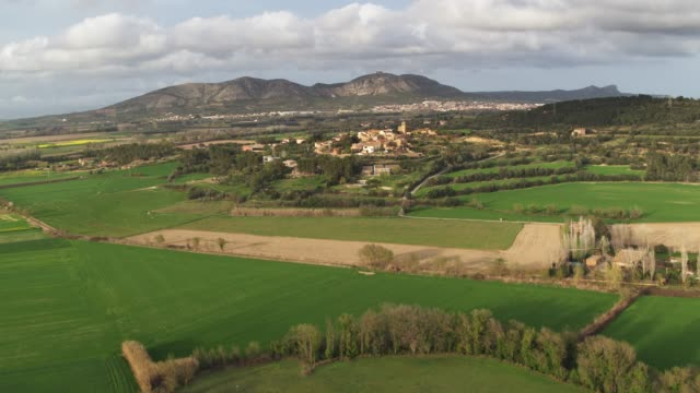 villages of costa brava - rolling landscape stock videos & royalty-free footage