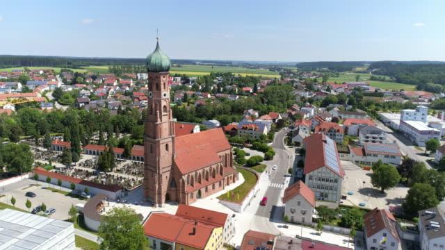 stadt vilsbiburg in niederbayern - ziegel stock-videos und b-roll-filmmaterial