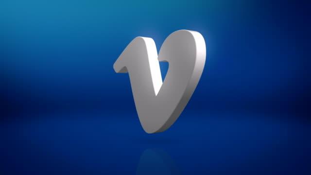 vidéos et rushes de vimeo icon motion background - lettre de l'alphabet