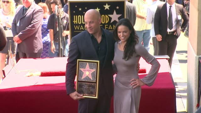 vin diesel and michelle rodriguez at vin diesel honored with star on the hollywood walk of fame vin diesel and michelle rodriguez at vin diesel ho at... - vin diesel stock videos and b-roll footage