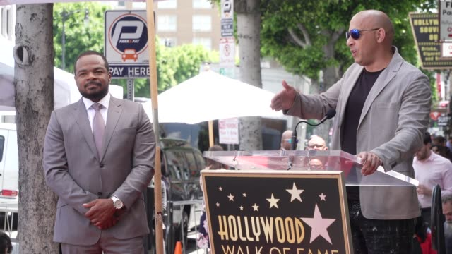 speech vin diesel at director f gary gray honored with a star on the hollywood walk of fame on may 28 2019 in hollywood california - vin diesel stock videos and b-roll footage
