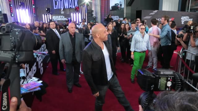 vin diesel at fast furious 6 premiere on may 21 2013 in los angeles california - vin diesel stock videos and b-roll footage