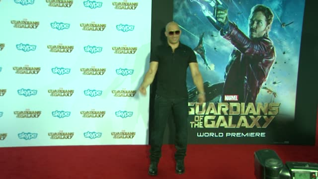 vin diesel at the guardians of the galaxy world premiere at the el capitan theatre on july 21 2014 in hollywood california - vin diesel stock videos and b-roll footage