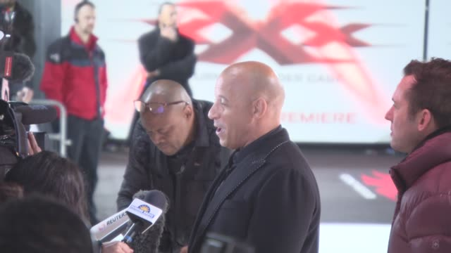 return of xander cage premiere european premiere at cineworld 02 arean on january 10 2017 in london england - vin diesel stock videos and b-roll footage