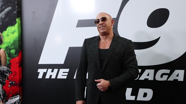"""vídeos y material grabado en eventos de stock de vin diesel attends the universal pictures """"f9"""" world premiere at tcl chinese theatre on june 18, 2021 in hollywood, california. - tcl chinese theatre"""