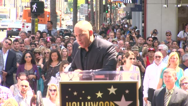 clean vin diesel honored with star on the hollywood walk of fame event capsule clean vin diesel honored with star at hollywood walk of fame on august... - vin diesel stock videos and b-roll footage