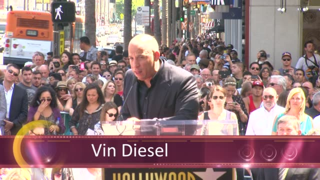 chyron vin diesel honored with star on the hollywood walk of fame event capsule chyron vin diesel honored with sta at hollywood walk of fame on... - vin diesel stock videos and b-roll footage