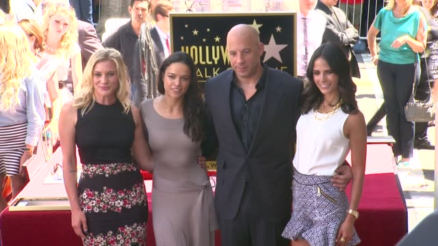 vin diesel michelle rodriguez jordana brewster and katee sackhoff at vin diesel honored with star on the hollywood walk of fame vin diesel michelle... - vin diesel stock videos and b-roll footage
