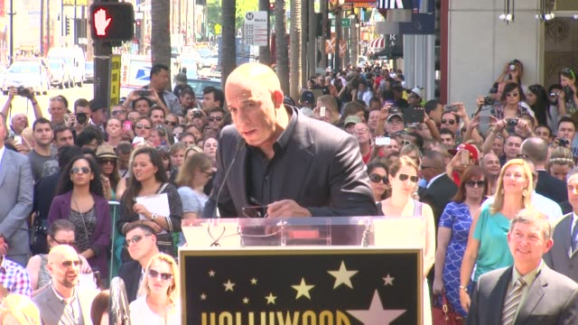 speech vin diesel on his career at vin diesel honored with star on the hollywood walk of fame speech vin diesel on his career at vin diesel ho at... - vin diesel stock videos and b-roll footage