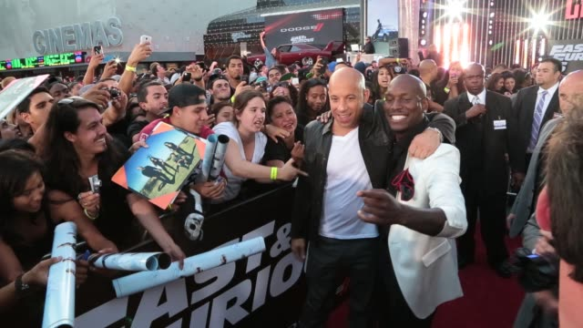 vin diesel tyrese gibson arrive on may 21 2013 in los angeles california - tyrese stock videos and b-roll footage
