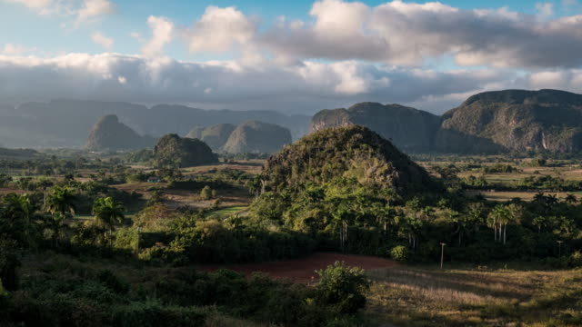 vinales time lapse at sunset - cuba stock videos & royalty-free footage