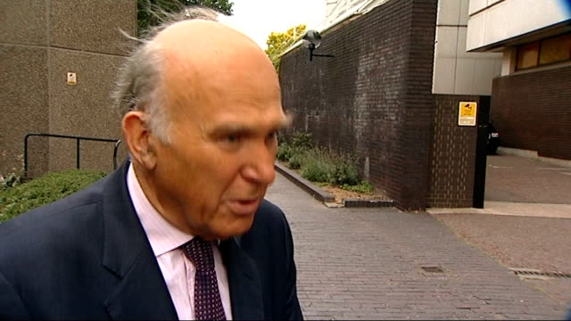 Vince Cable announces new employment laws to help employers deal with underperforming staff ENGLAND EXT Vince Cable MP interview SOT I'm trying to...
