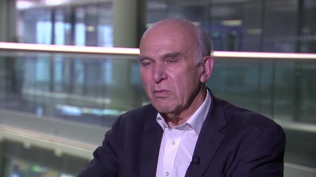 vince cable interview; england: london: gir: int vince cable mp interview sot - vince cable stock videos & royalty-free footage