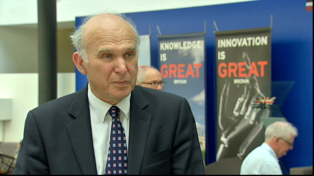vince cable interview on banking standards; england: london: int vince cable mp interview sot - vince cable stock videos & royalty-free footage