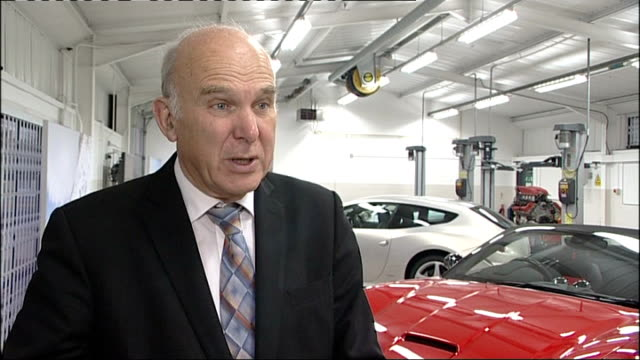 vince cable meets ferrari apprentices vince cable interview sot apprenticeships are proving to be a great success story/ were are trying to focus... - ladder of success stock videos & royalty-free footage