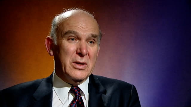 vince cable mp interview sot - bank shouldn't be paying out vast sums in bonuses when it is posting losses. - vince cable stock videos & royalty-free footage