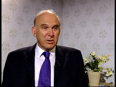 int vince cable mp interview sot the government should be getting together with the bank of england and the financial regulator to discuss how to... - borrowing stock videos & royalty-free footage