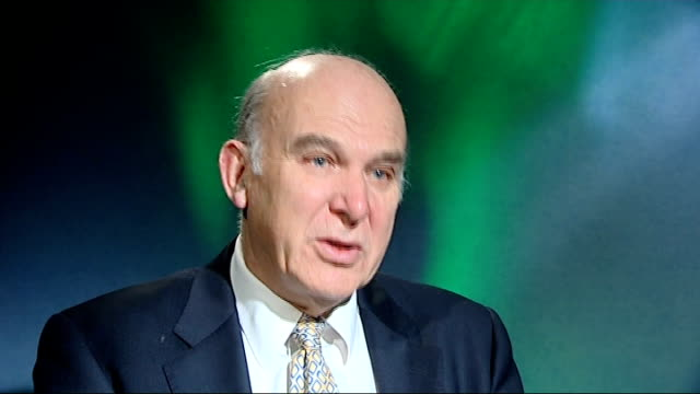 vince cable mp interview sot - vince cable stock videos & royalty-free footage