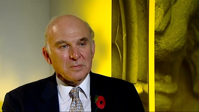 vince cable mp interview sot - you and i very priviledged, one in ten of the population went to university in my day, i had a very good university... - vince cable stock videos & royalty-free footage