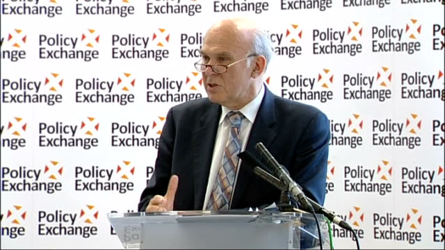 vince cable speech at policy exchange; cable speech sot - i believe strongly in competition. i believe that the best route to economic success for... - shift key stock videos & royalty-free footage