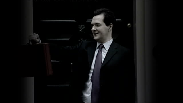 vince cable unveils budget negotiations date george osborne mp posing with red budget box - cable box stock videos and b-roll footage