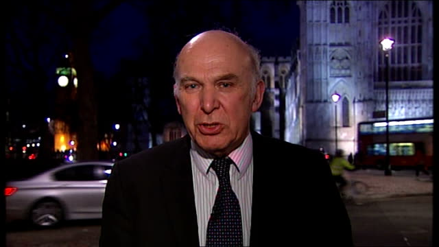 vince cable unveils budget negotiations; england: london: gir: int vince cable mp 2 way interview from westminster sot - most of letter is extremely... - capital letter点の映像素材/bロール