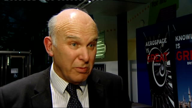 vince cable unveils budget negotiations; int vince cable interview sot - there is joined up thinking and i was trying to address that issue when i... - vince cable stock videos & royalty-free footage