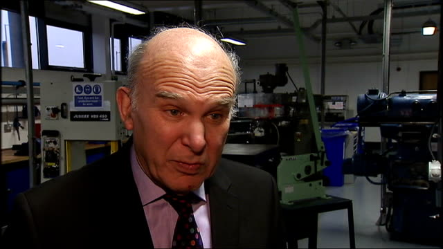 vince cable visits northern ireland advanced composites centre vince cable mp interview sot on what has impressed him about the northern ireland... - northern europe stock videos & royalty-free footage