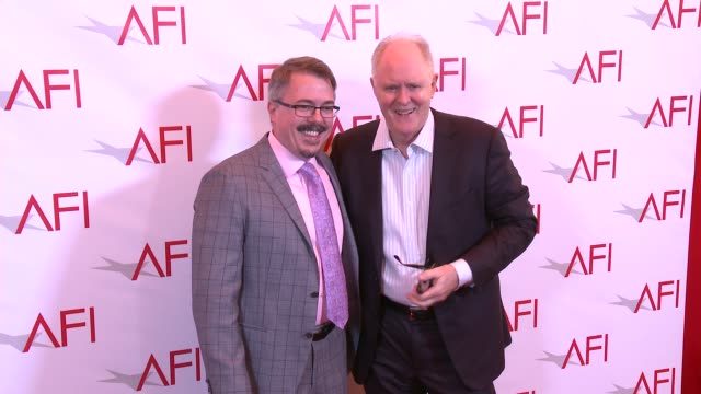 vince gilligan and john lithgow at 17th annual afi awards at four seasons hotel los angeles at beverly hills on january 06, 2017 in los angeles,... - four seasons hotel stock videos & royalty-free footage