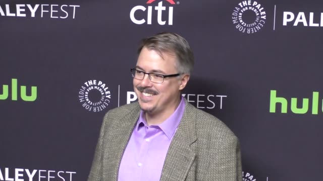 vince gilligan at the paley center for media 'better call saul' presentation at paleyfest at the dolby theatre in hollywood at celebrity sightings in... - paley center for media los angeles stock videos & royalty-free footage