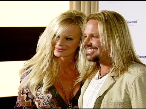 vince neil and lia neil at the koi las vegas grand opening at planet hollywood in las vegas nevada on november 9 2007 - vince neil stock videos and b-roll footage
