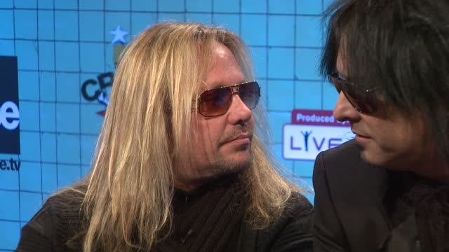 vince neil at the motley crue announces crue fest 2 at new york ny - vince neil stock videos and b-roll footage