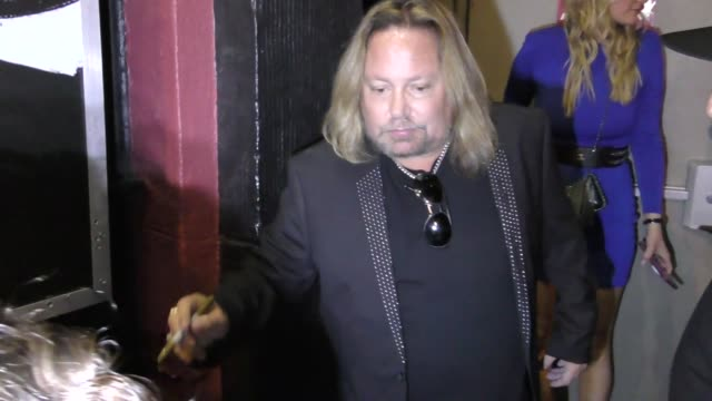 vince neil outside whisky a go go in west hollywood in celebrity sightings in los angeles - vince neil stock videos and b-roll footage