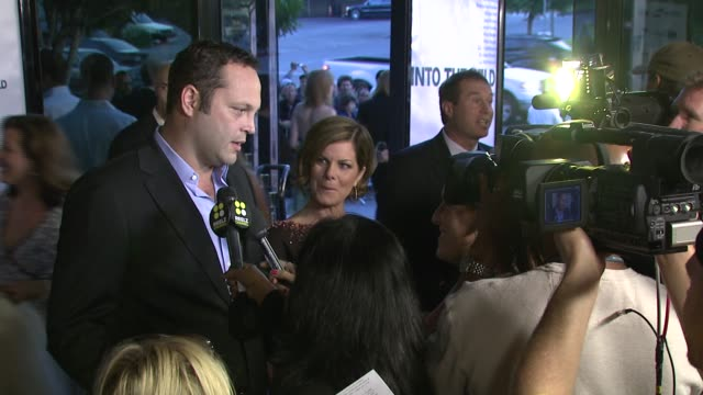 vince vaughn and marcia gay harden at the 'into the wild' premiere at directors guild of america in hollywood, california on september 18, 2007. - vince vaughn stock videos & royalty-free footage