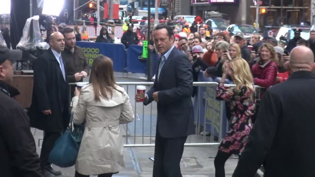vince vaughn arrives at the 'good morning america' studio at celebrity sightings in new york in new york, ny, on . - vince vaughn stock videos & royalty-free footage