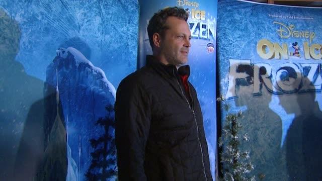 vince vaughn at disney on ice presents frozen los angeles celebrity premiere in los angeles, ca 12/10/15 - vince vaughn stock videos & royalty-free footage